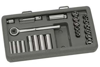 Craftsman 24 pc. Socket Set, 6 pt. Metric 1/4 and 3/8 in. drive
