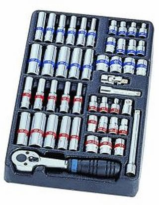 King Tony KING TONY 1/4inch SOCKET SET SAE & METRIC